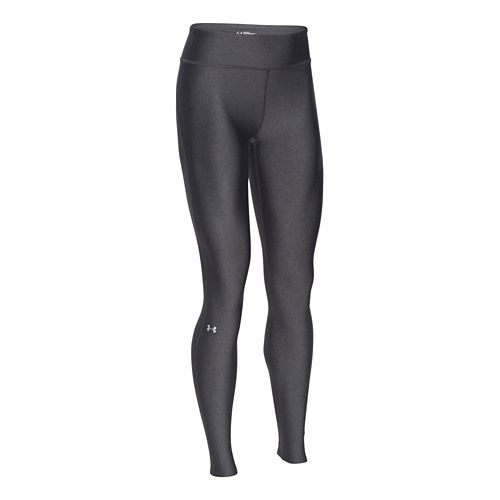 Womens Under Armour HeatGear Legging Full Length Tights - Carbon/Silver XS