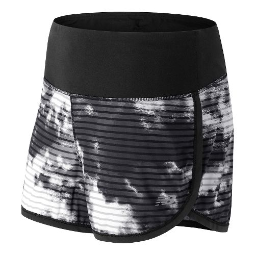 Womens New Balance Impact 3 Lined Shorts - Black/Water Vapor L