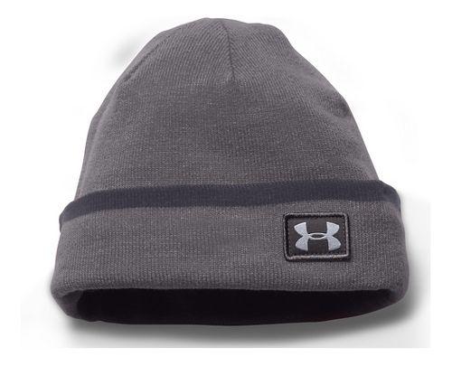 Mens Under Armour Cuff Sideline Beanie Headwear - Graphite/Grey