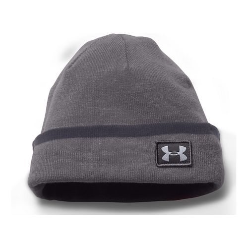Mens Under Armour Cuff Sideline Beanie Headwear - Graphite/Grey