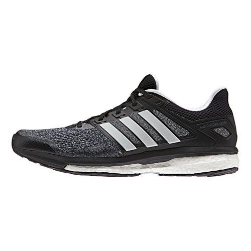 Mens adidas Supernova Glide 8 Running Shoe - Black/White/Night 12.5