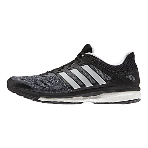 Mens adidas Supernova Glide 8 Running Shoe - Black/White/Night 8