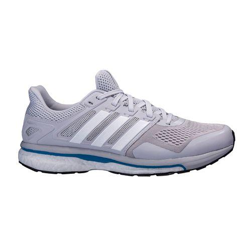 Mens adidas Supernova Glide 8 Running Shoe - Grey/White 11