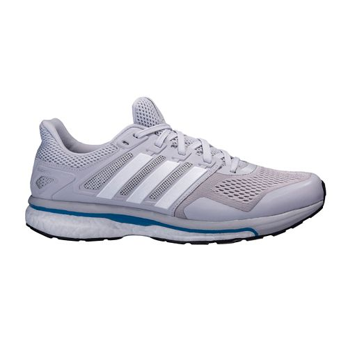 Mens adidas Supernova Glide 8 Running Shoe - Grey/White 9