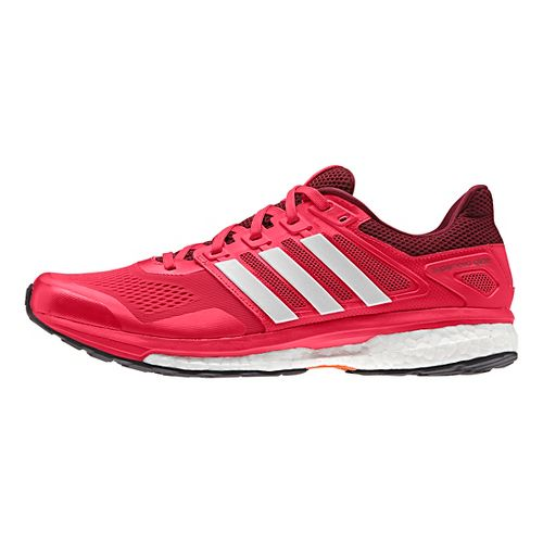 Mens adidas Supernova Glide 8 Running Shoe - Red/White/Burgundy 9.5