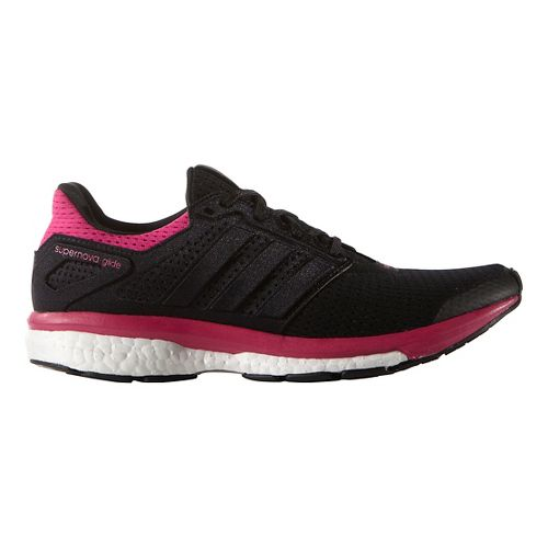 Womens adidas Supernova Glide 8 Running Shoe - Black/Equipment Pink 10.5