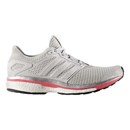 Womens adidas Supernova Glide 8 Running Shoe - Grey/Silver 8.5