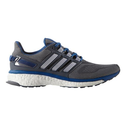 Mens adidas Energy Boost 3 Running Shoe - Grey/Equipment Blue 6.5