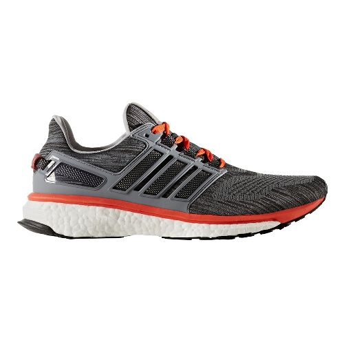 Mens adidas Energy Boost 3 Running Shoe - Grey/Red 10.5