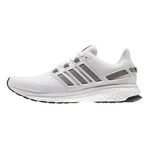 Mens adidas Energy Boost 3 Running Shoe - White/Grey/White 10.5