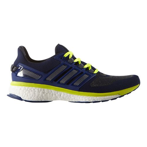 Mens adidas Energy Boost 3 Running Shoe - Navy/Yellow 11.5
