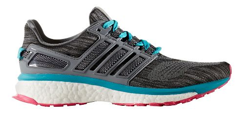 Womens adidas Energy Boost 3 Running Shoe - Grey/Blue 10.5
