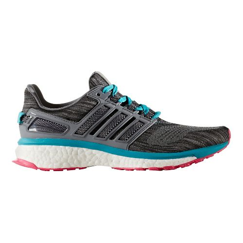 Womens adidas Energy Boost 3 Running Shoe - Grey/Blue 10.5