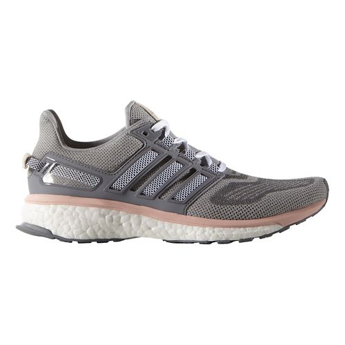 Womens adidas Energy Boost 3 Running Shoe - Grey/Pink 10.5