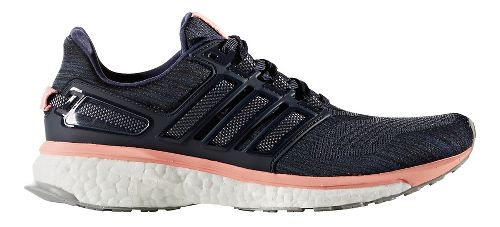 Womens adidas Energy Boost 3 Running Shoe - Midnight Grey/Pink 10.5
