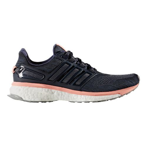 Womens adidas Energy Boost 3 Running Shoe - Midnight Grey/Pink 6.5