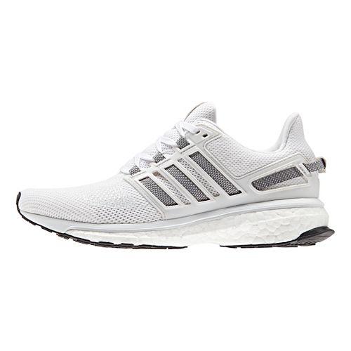 Womens adidas Energy Boost 3 Running Shoe - White/Grey 10.5