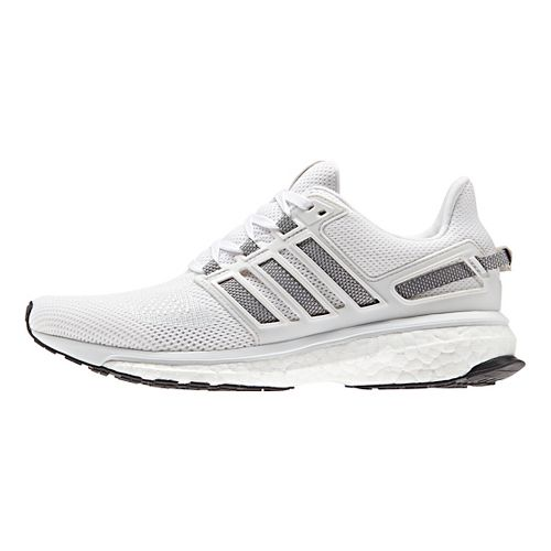 Womens adidas Energy Boost 3 Running Shoe - White/Grey 5.5