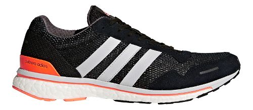 Mens adidas Adizero Adios 3 Running Shoe - Black/Grey/Orange 9