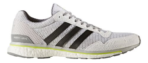 Mens adidas Adizero Adios 3 Running Shoe - White/Grey 10.5