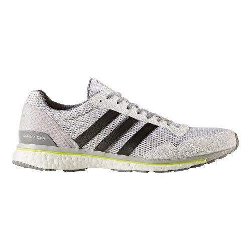 Mens adidas Adizero Adios 3 Running Shoe - White/Grey 10
