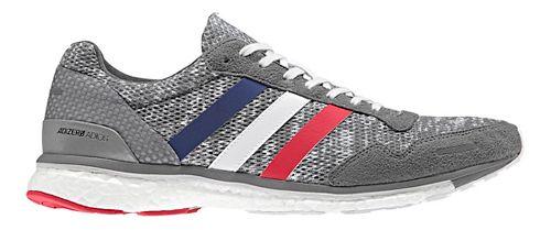 Mens adidas Adizero Adios 3 Running Shoe - Grey/White 11