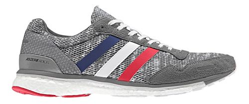 Mens adidas Adizero Adios 3 Running Shoe - Grey/White 13