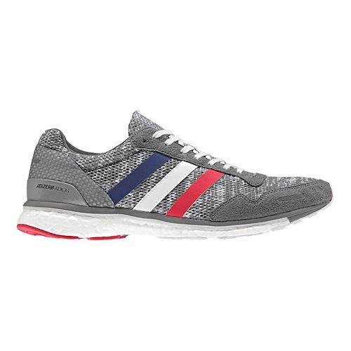 Mens adidas Adizero Adios 3 Running Shoe - Grey/White 8.5
