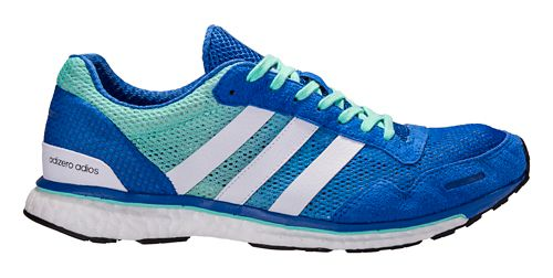Mens adidas Adizero Adios 3 Running Shoe - Blue/Green 11.5