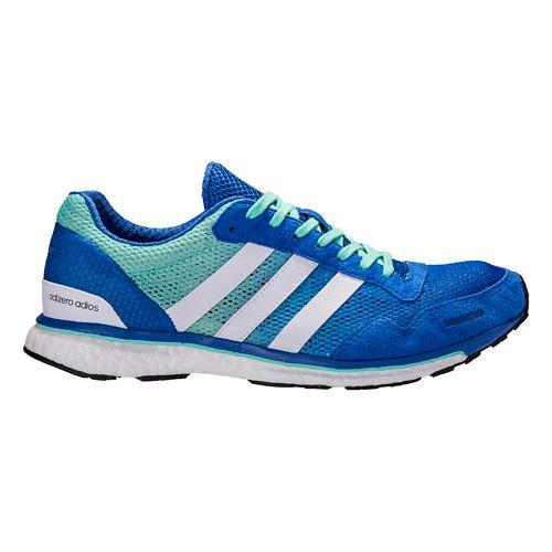 Mens adidas Adizero Adios 3 Running Shoe - White/Grey 10.5