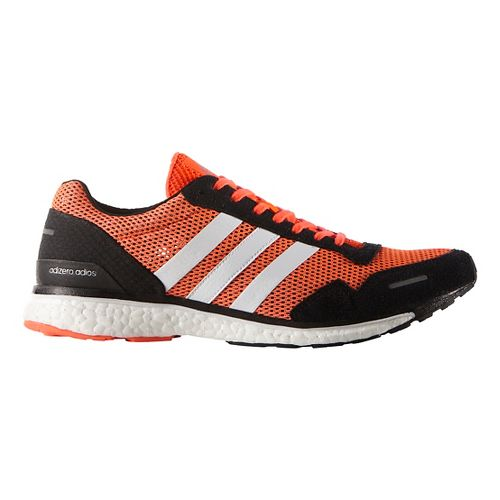 Mens adidas Adizero Adios 3 Running Shoe - Solar Red 13