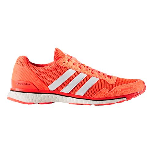 Mens adidas Adizero Adios 3 Running Shoe - Red/White 11.5