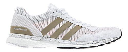 Womens adidas Adizero Adios 3 Running Shoe - White/Gold 9.5