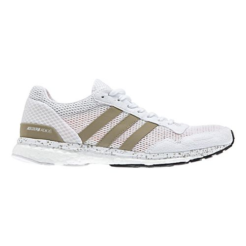 Womens adidas Adizero Adios 3 Running Shoe - White/Gold 10.5