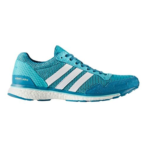 Womens adidas Adizero Adios 3 Running Shoe - Aqua/White 10.5