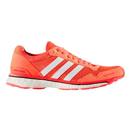 Womens adidas Adizero Adios 3 Running Shoe - Red/White 9.5