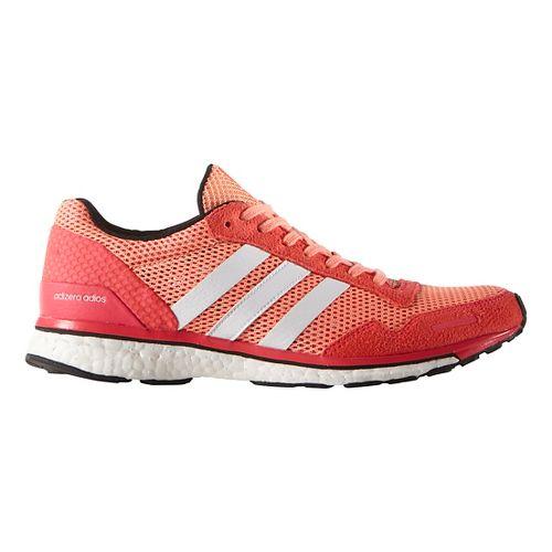 Womens adidas Adizero Adios 3 Running Shoe - Sun Glow/White 10
