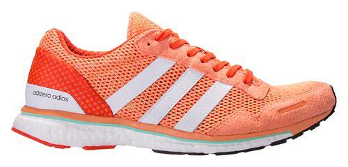 Womens adidas Adizero Adios 3 Running Shoe - Orange/White 9.5