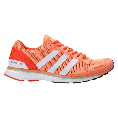 Womens adidas Adizero Adios 3 Running Shoe - Orange/White 9