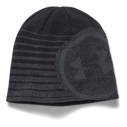 Mens Under Armour Billboard Beanie 2.0 Headwear - Black/Grey