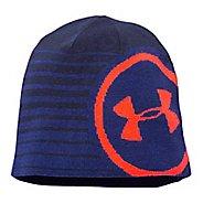 Mens Under Armour Billboard Beanie 2.0 Headwear - Cobalt/Orange