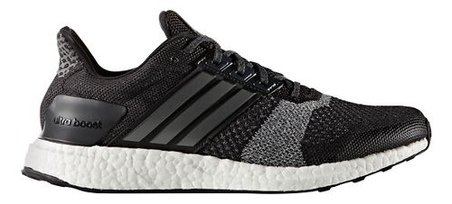 Mens adidas Ultra Boost ST Running Shoe - Black/White 8.5