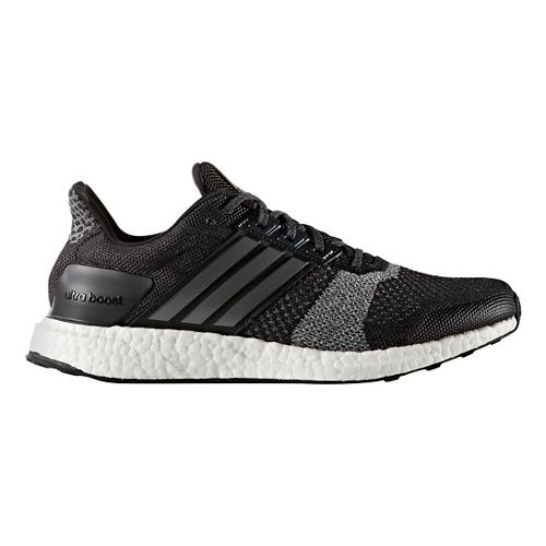 Mens adidas Ultra Boost ST Running Shoe - Black/White 11.5