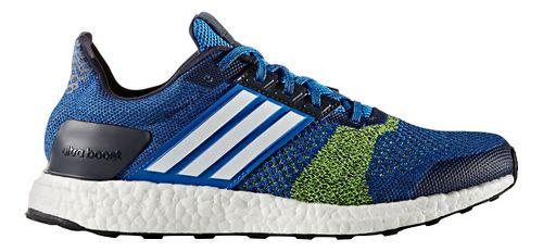 Mens adidas Ultra Boost ST Running Shoe - Blue/Yellow 8