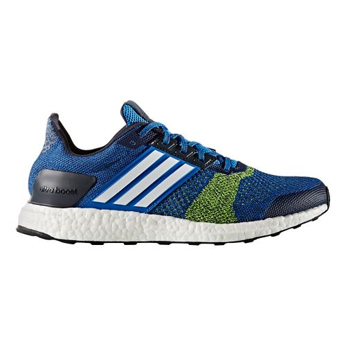 Mens adidas Ultra Boost ST Running Shoe - Blue/Yellow 10.5