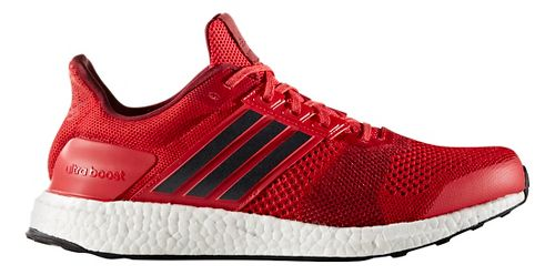 Mens adidas Ultra Boost ST Running Shoe - Red/Navy 11