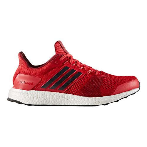 Mens adidas Ultra Boost ST Running Shoe - Red/Navy 8.5