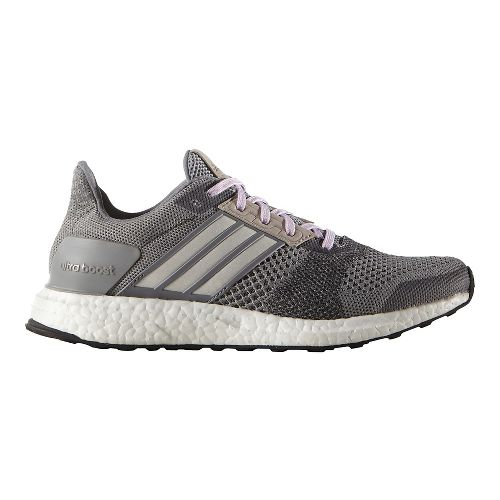 Womens adidas Ultra Boost ST Running Shoe - Grey/Purple 10.5