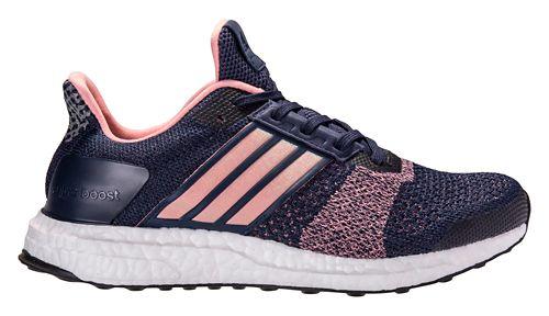 Womens adidas Ultra Boost ST Running Shoe - Navy/Pink 8.5