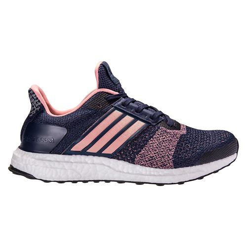 Womens adidas Ultra Boost ST Running Shoe - Navy/Pink 10